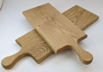 Oak edge grain board with handle