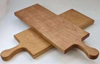 Cherry edge grain board with handle