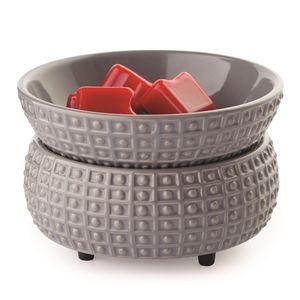 Chunky Grey Dimple Electric Wax Melter