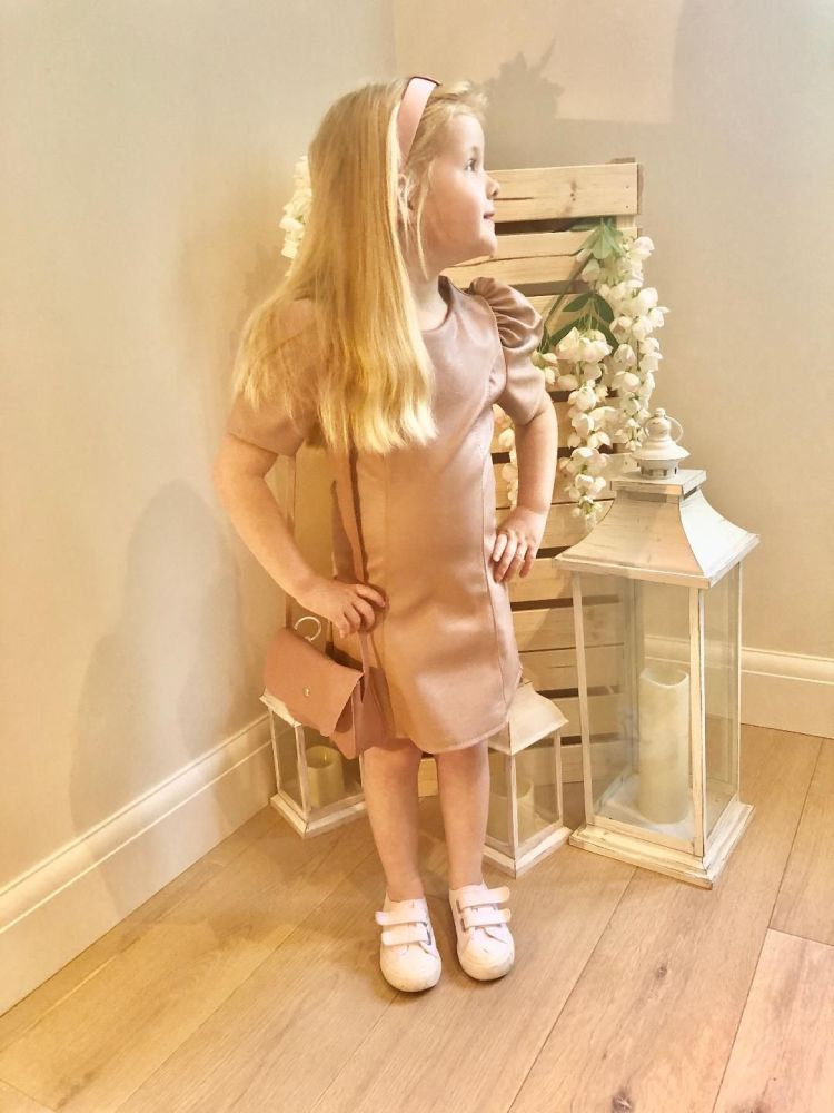 Blush Pink Pleather Dress
