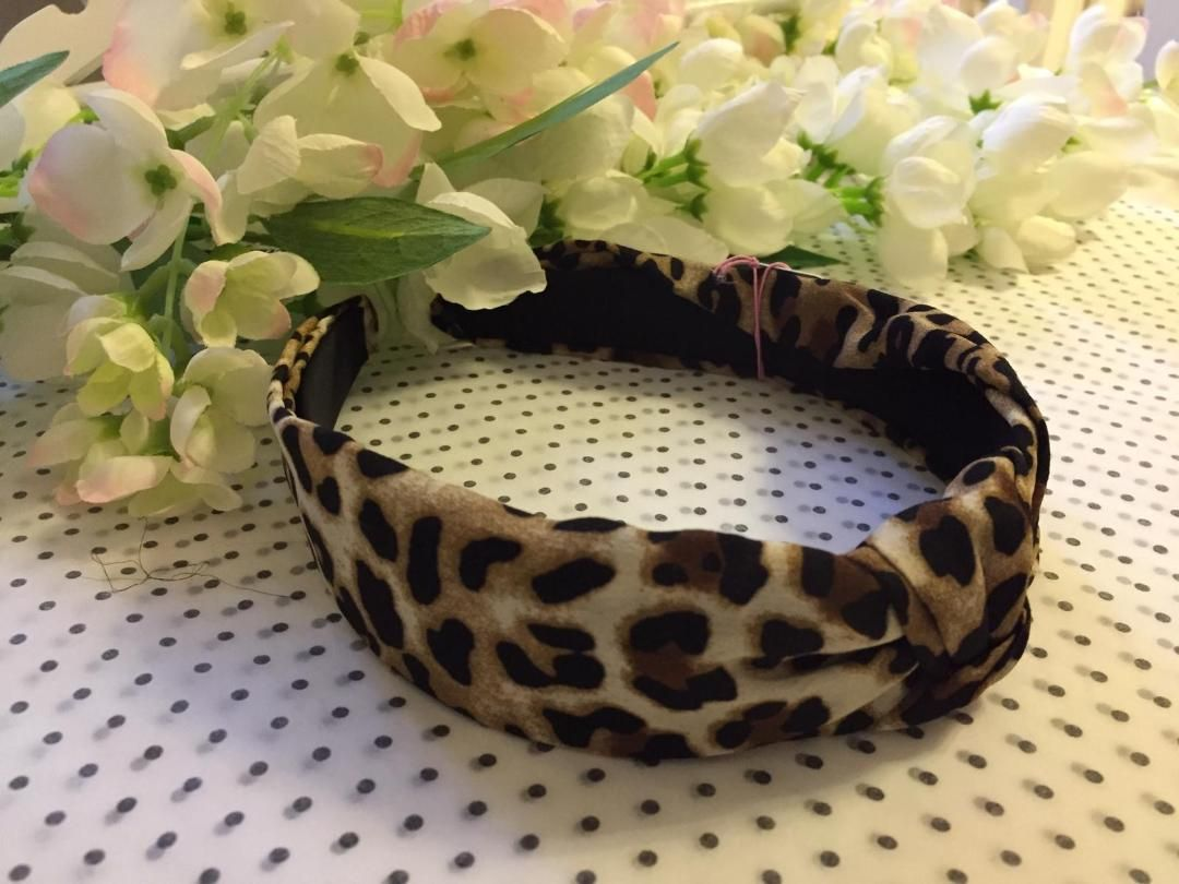 'The Ava' Knotted Animal Print Alice Band