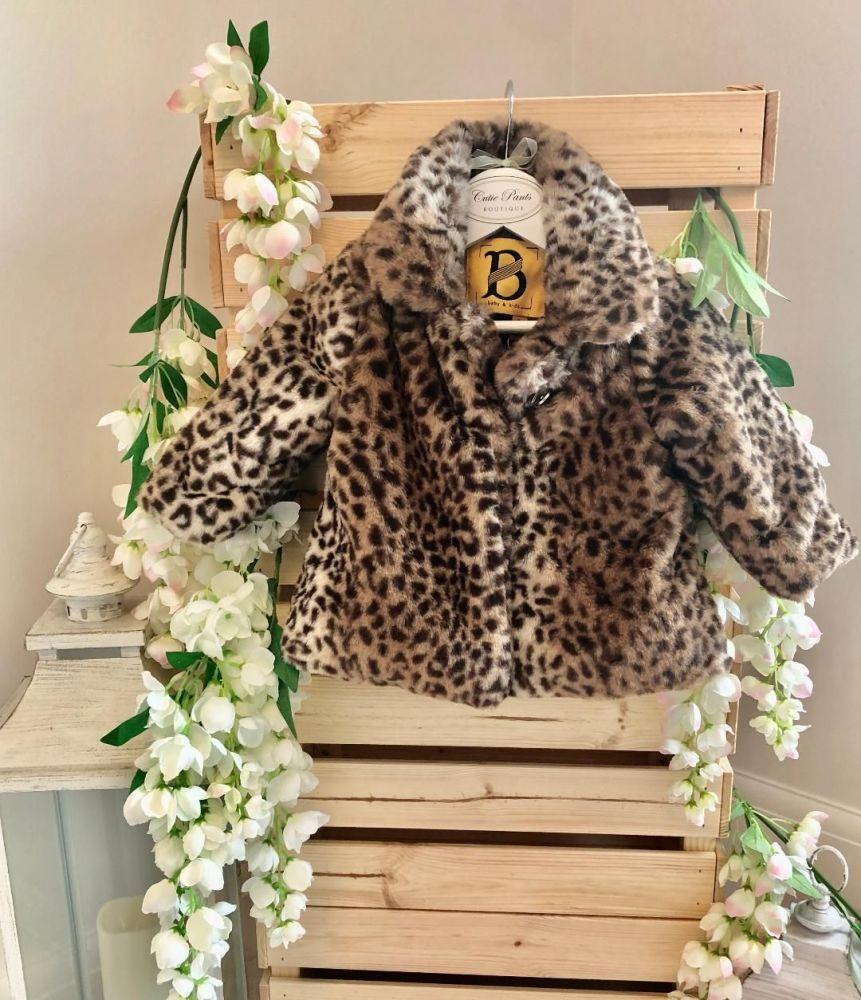 Faux Fur Leopard Jacket