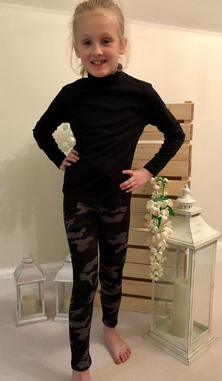 Black & Grey Camo Leggings