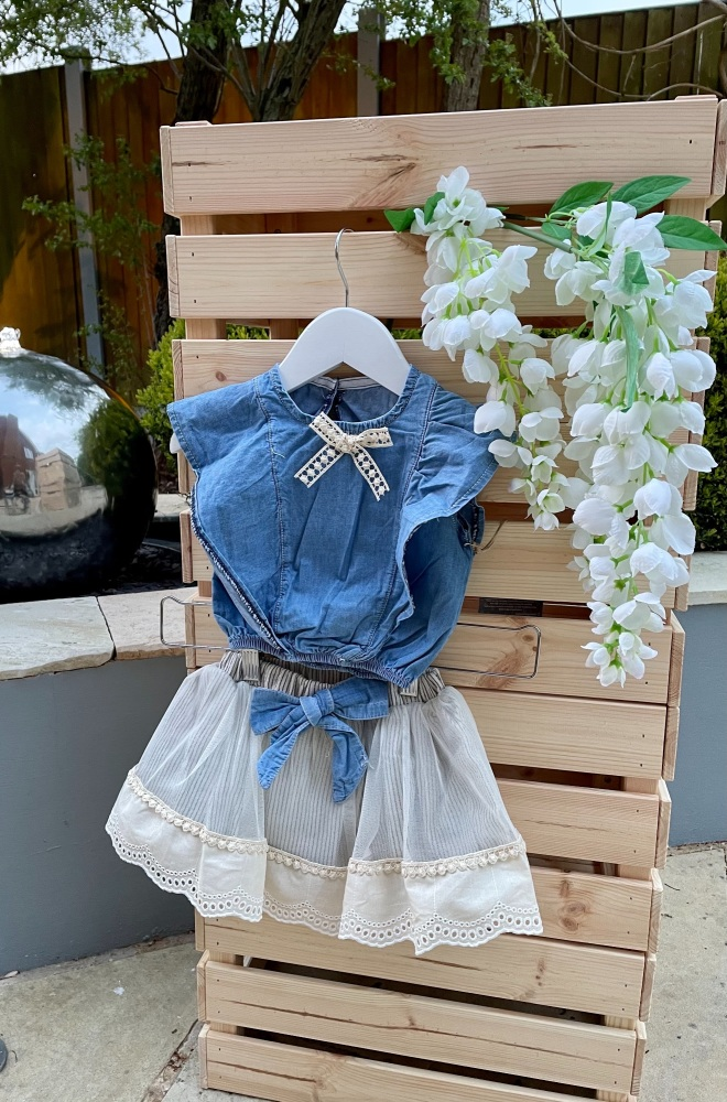 Denim Top & Skirt