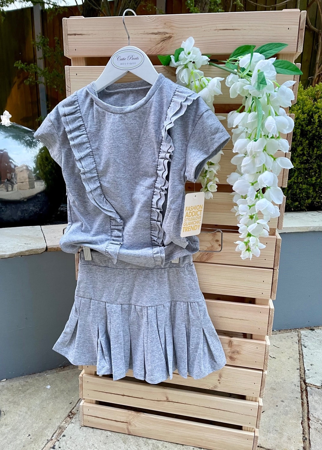 Tennis Style Skirt and Top Co-ord