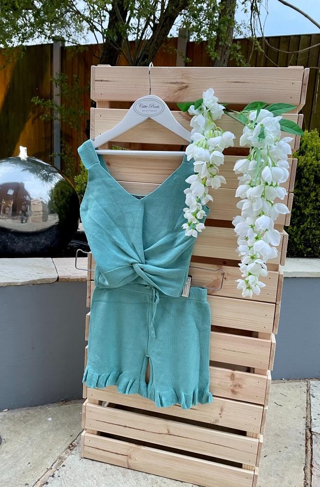 Soft Knit Knotted Vest & Shorts