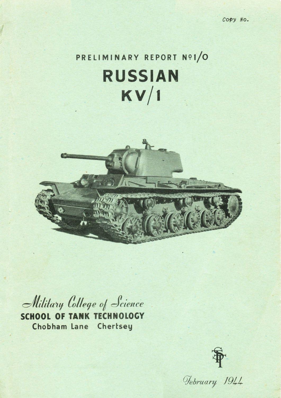 KV-1 Heavy Tank Preliminary STT Report