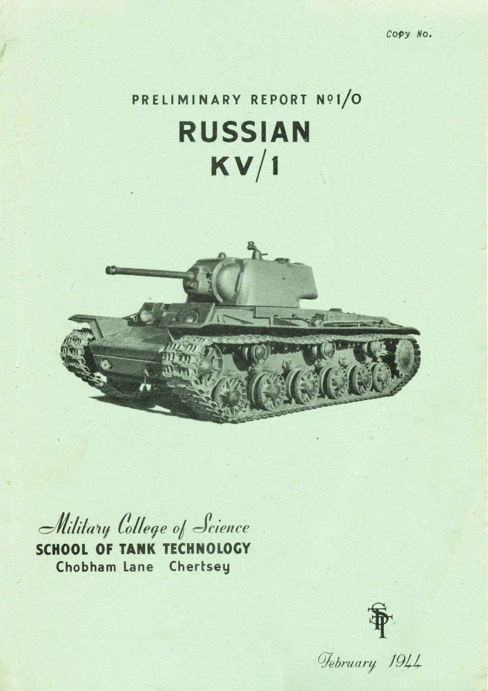 KV-1 Heavy Tank STT Preliminary Report 1/0