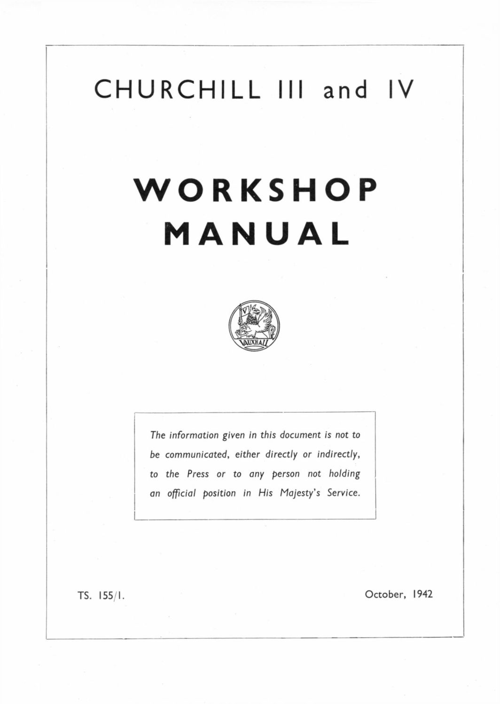 Churchill Mks. III & IV Workshop Manual