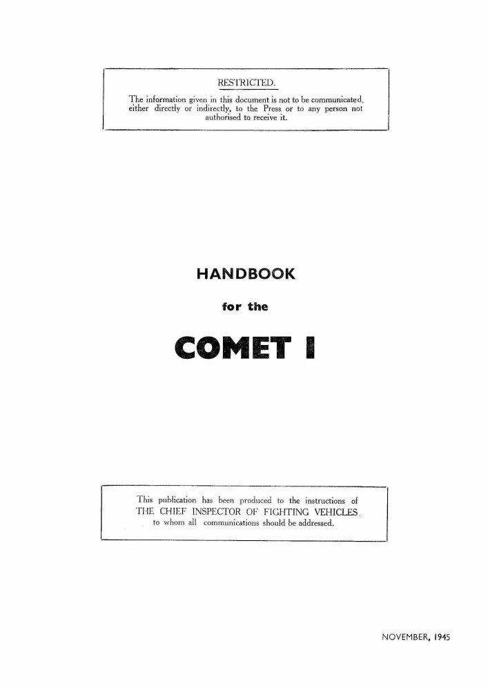 Comet I Handbook