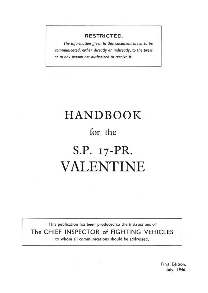 SP 17pdr Valentine (Archer) Handbook