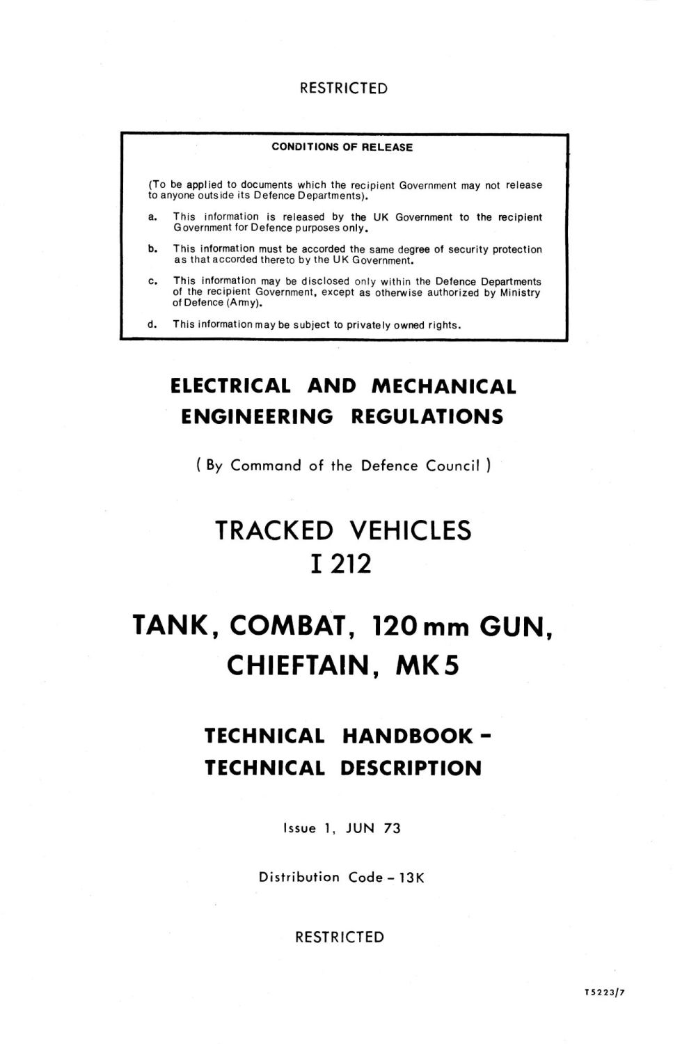 Chieftain Mk 5 Technical Handbook