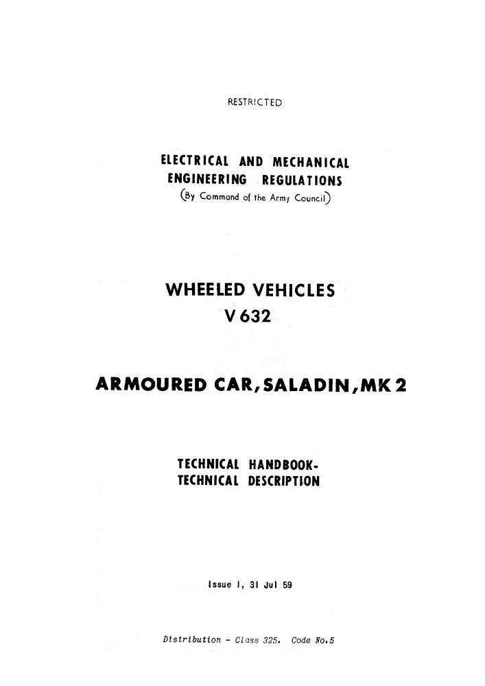 Saladin Mk 2 Technical Handbook
