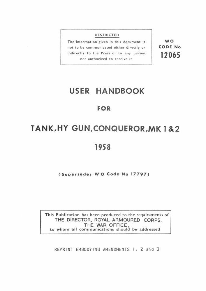 Conqueror Mks 1 & 2 User Handbook