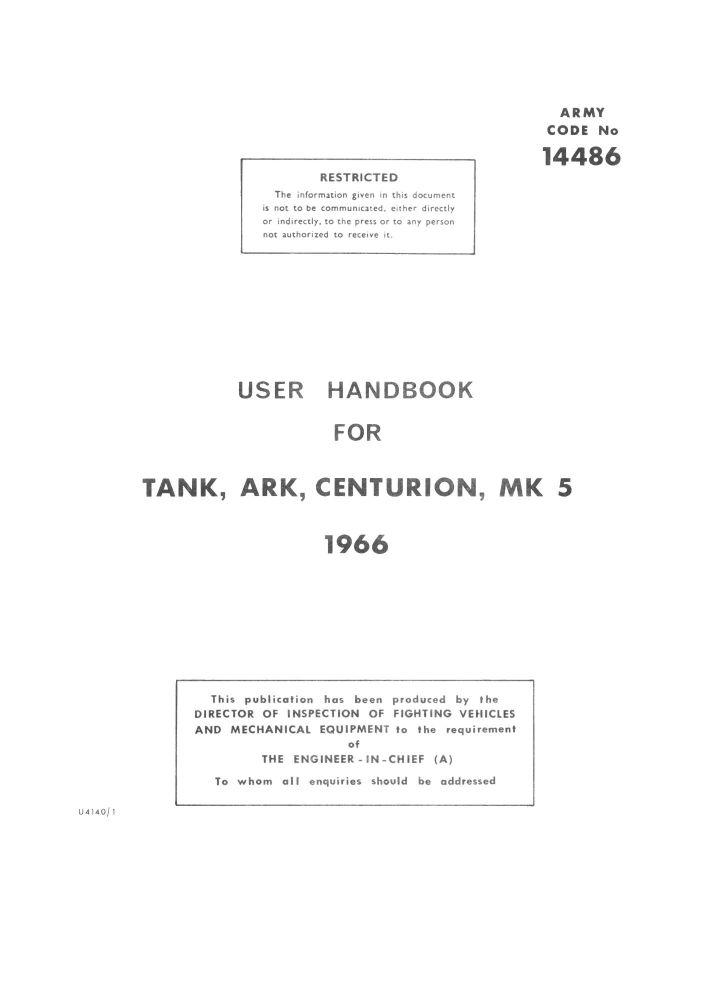 Centurion Mk 5 ARK User Handbook