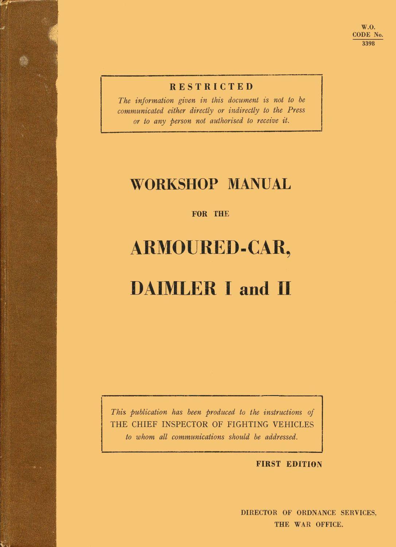 Daimler Armoured Car I & II Workshop Manual