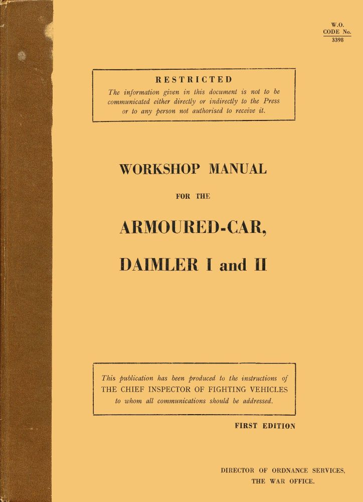 Daimler Armoured Car I & II Workshop Manual