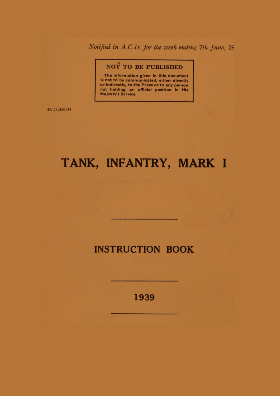 Matilda Mk I Instruction Book