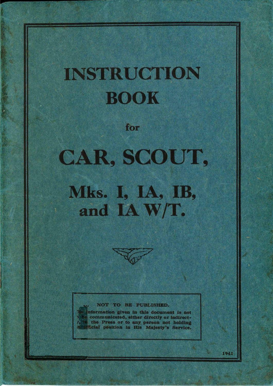 Daimler Dingo Scout Car Mks I-III User Handbooks