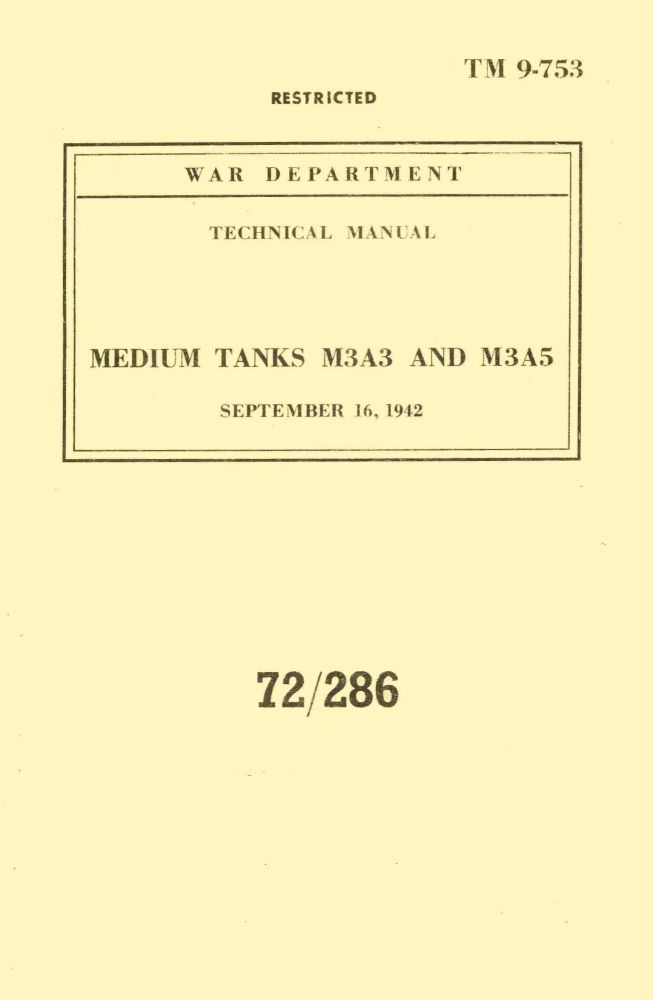 M3A3 & M3A5 Grant/Lee Technical Handbook
