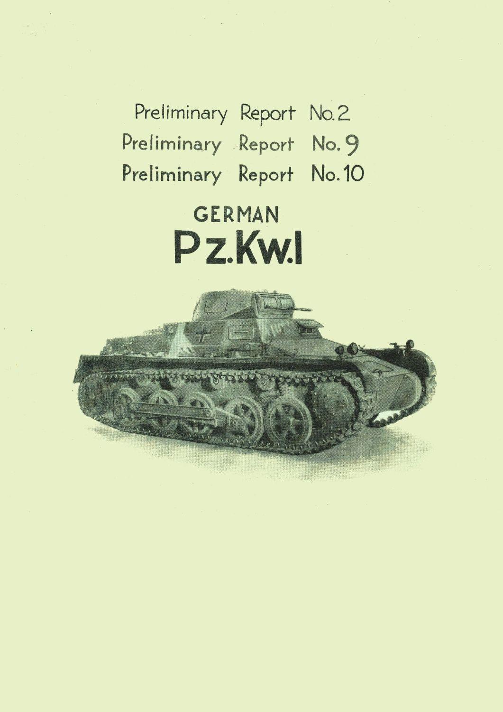Panzer I STT Reports Nos. 2, 9 & 10