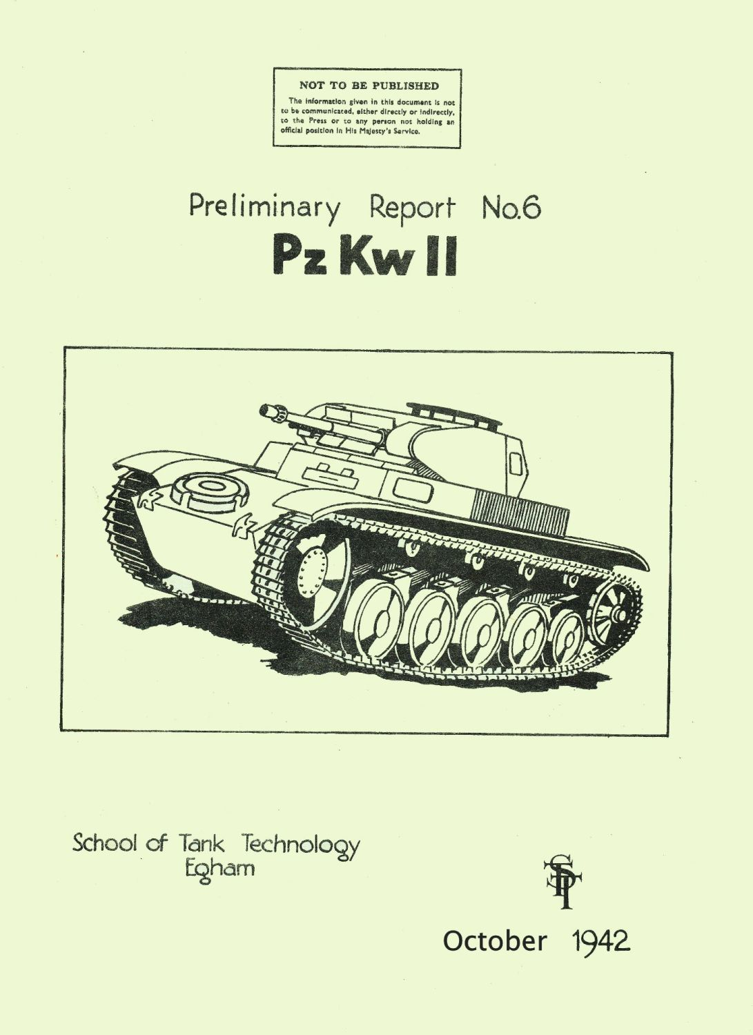 Panzer II School of Tank Technology Report No. 6