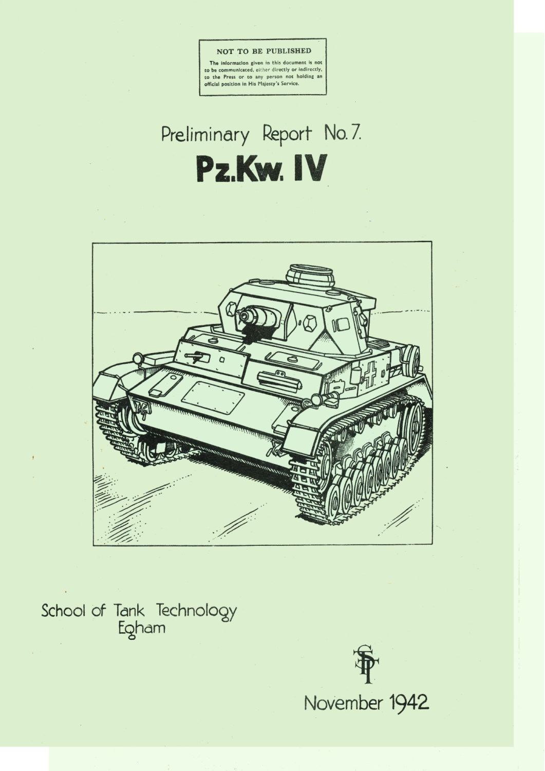 Panzer IV STT Reports 7 and 15