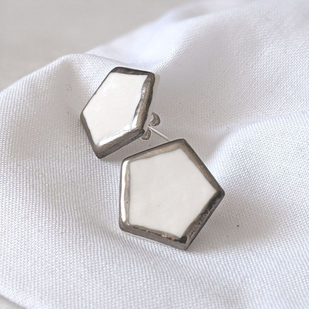 Pent Stud Earrings