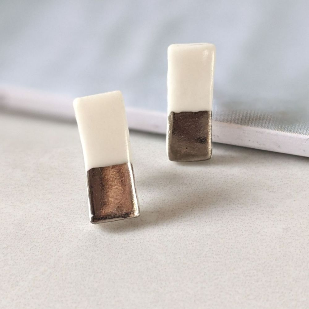 Bar Stud Earrings | Small