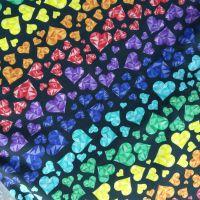 Geo Hearts, Organic Cotton Custom Panties