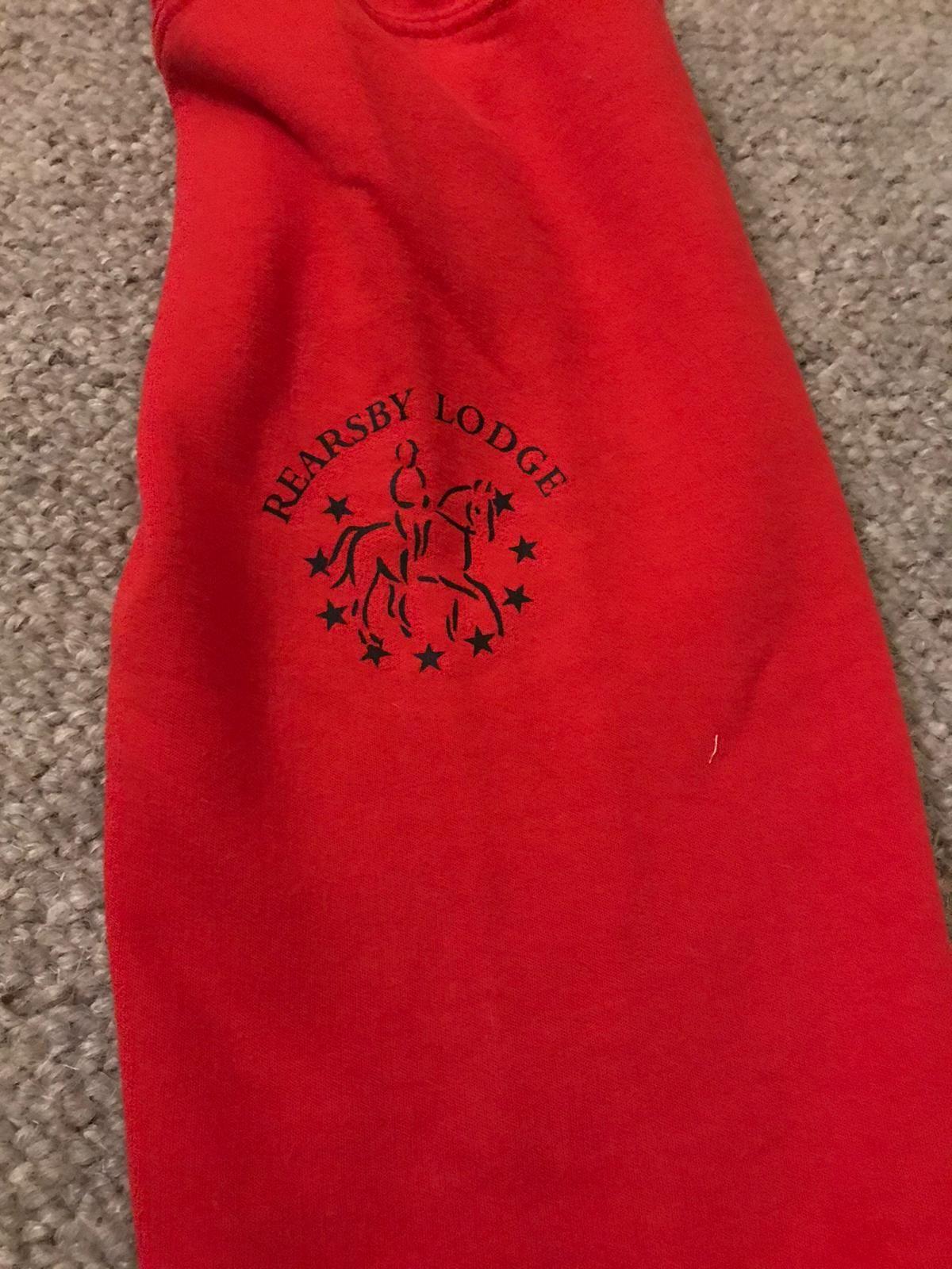 Logo on sweatshirt