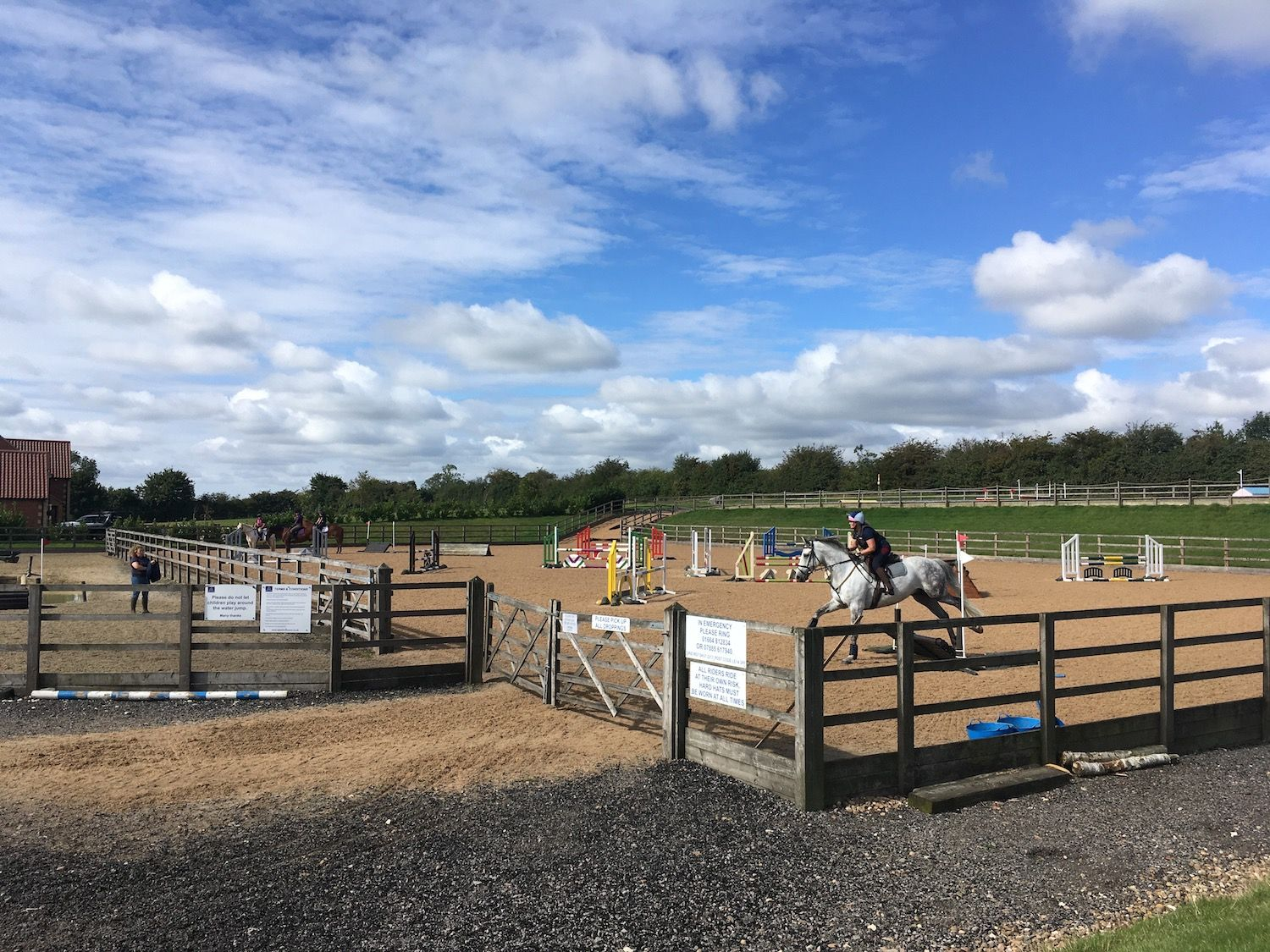 Arena eventing  training at Aylesford