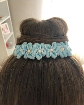 FROST bun wrap in hair