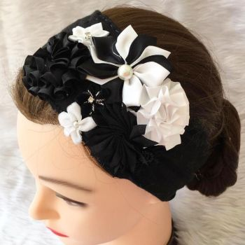 MONOCHROME headband on head