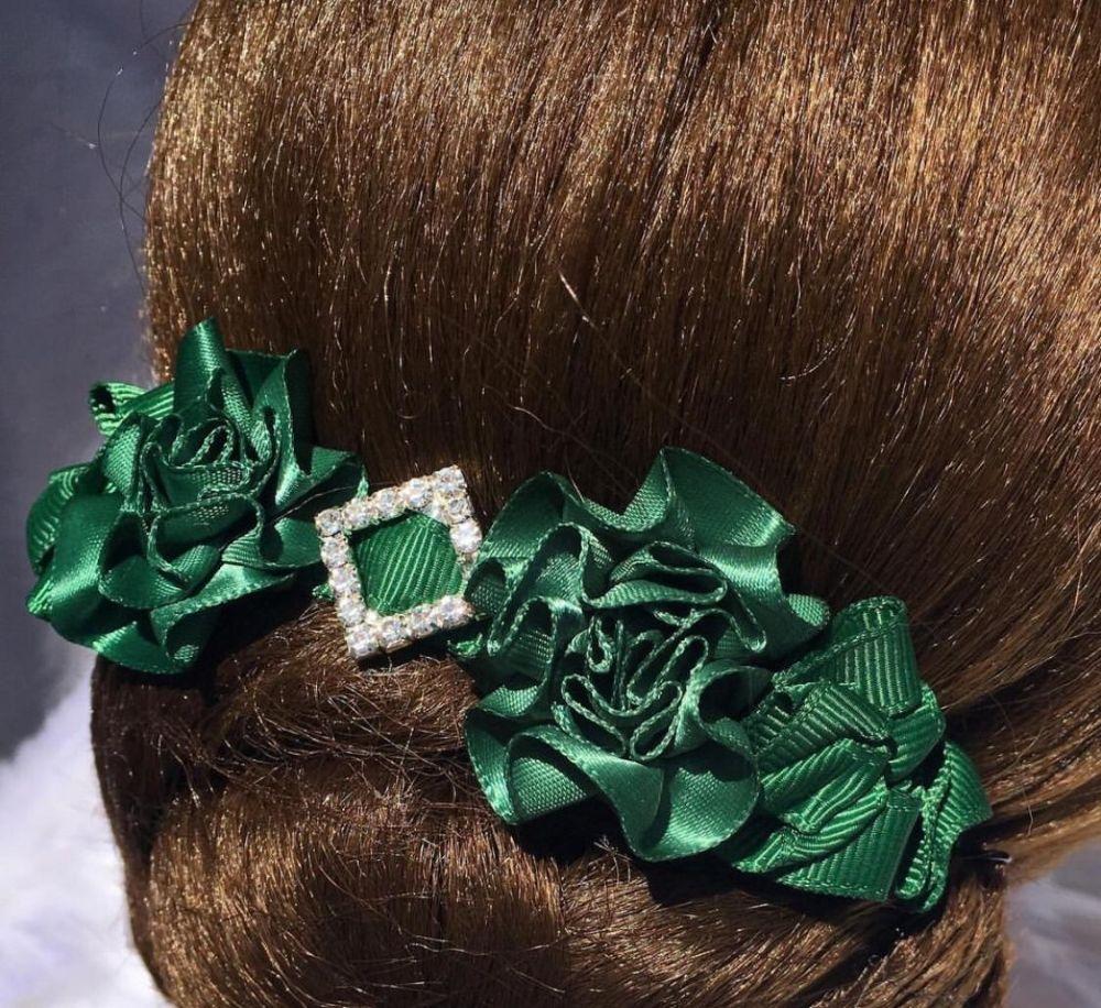 GREEN & TEAL hair accessories