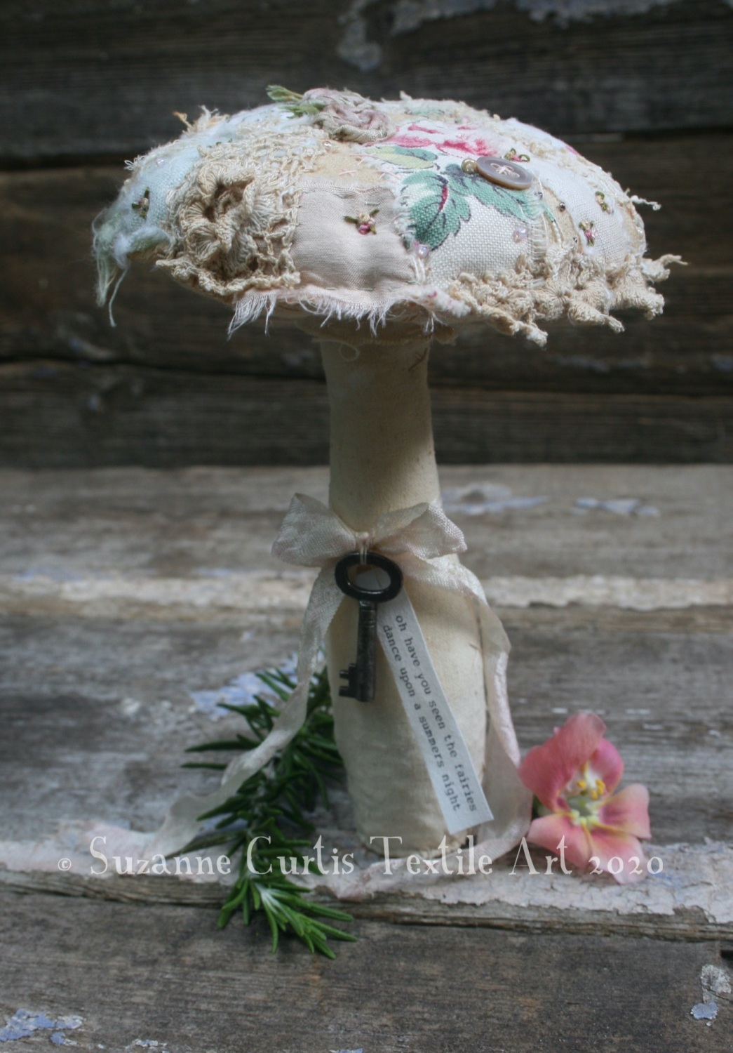 Large Embellished Toadstool
