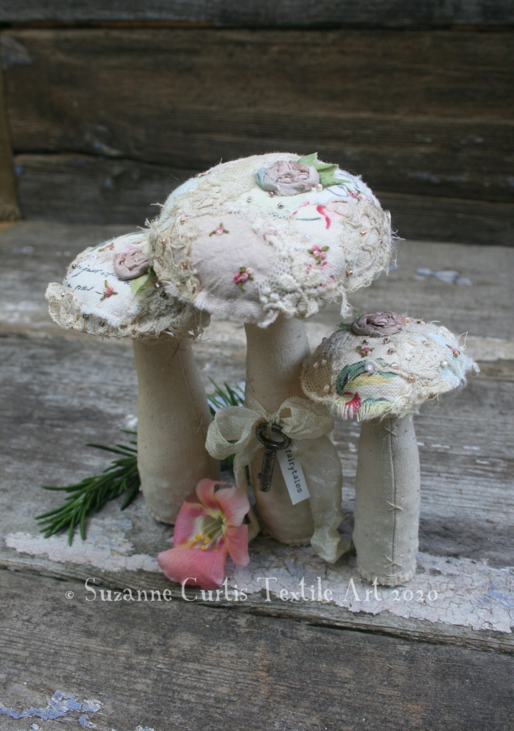 Embellished Toadstool Trio