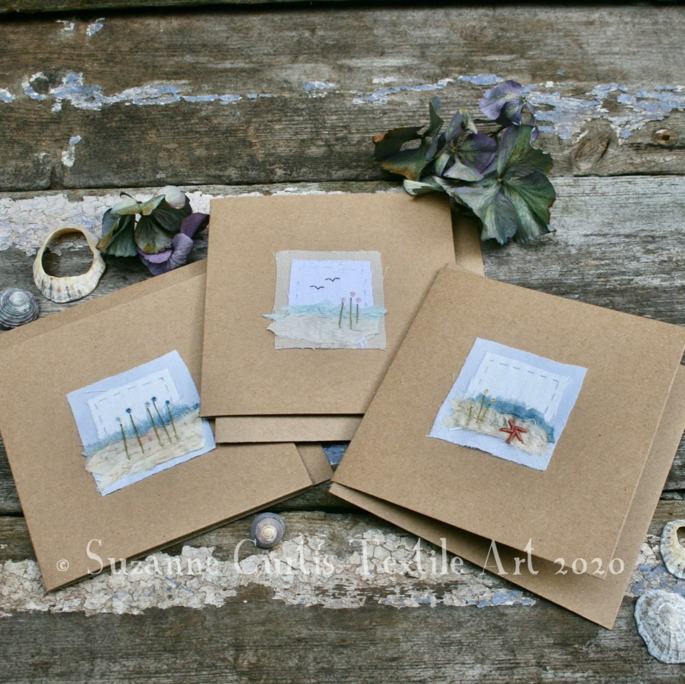 Embroidered Cards - pack of 3 - No1