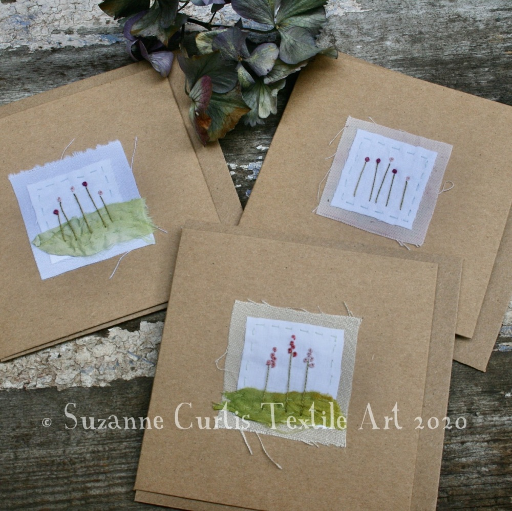 Embroidered Cards - pack of 3 - No 3