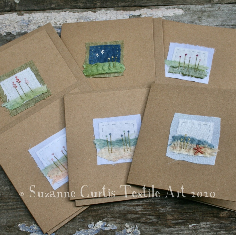 Embroidered Cards - pack of 6 - No 1