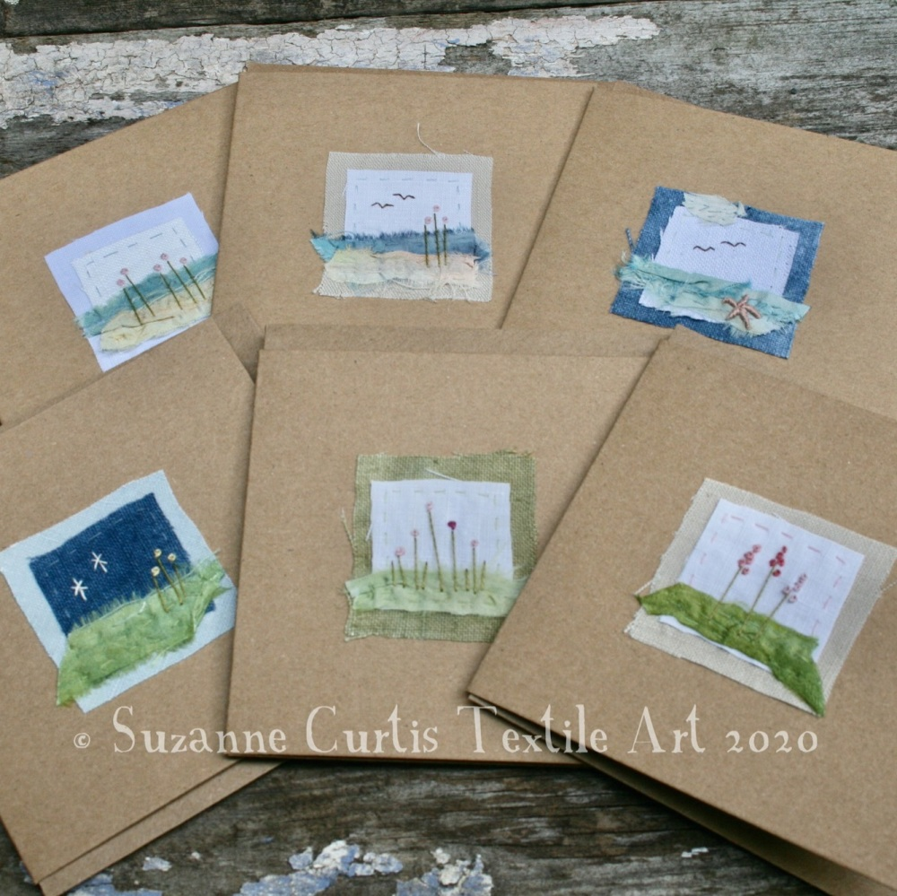Embroidered Cards - pack of 6 - No 2