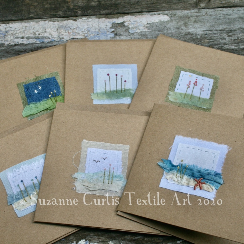Embroidered Cards - pack of 6 - No 3