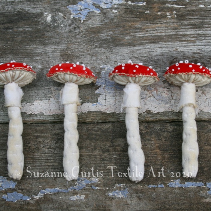Toadstool Brooches