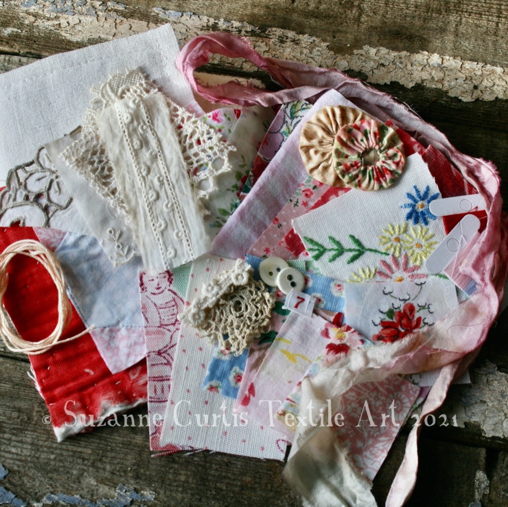 Slow Stitch Needle Book Pack  - Ivory Vintage and Ditsy