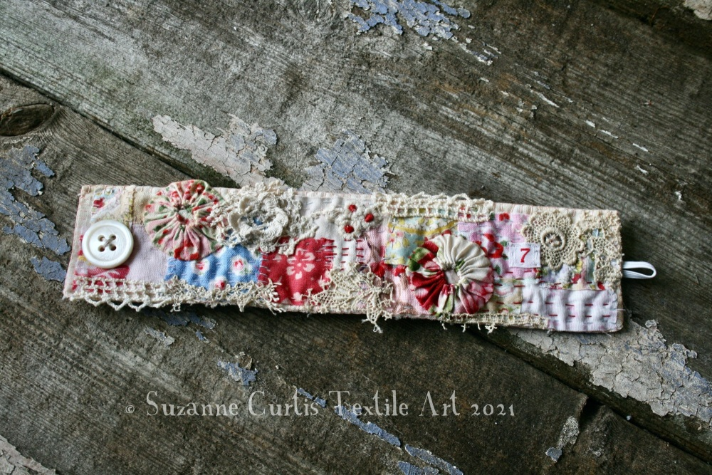 Textile Cuff Bracelet - Vintage and Ditsy