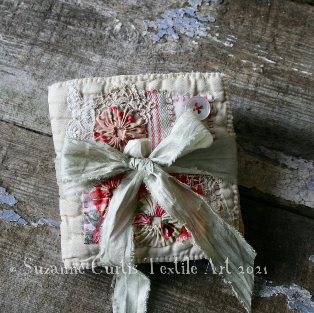 Textile Needle Book - Vintage Quilt