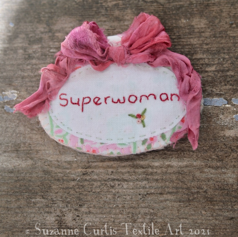 Superwoman Brooch 01