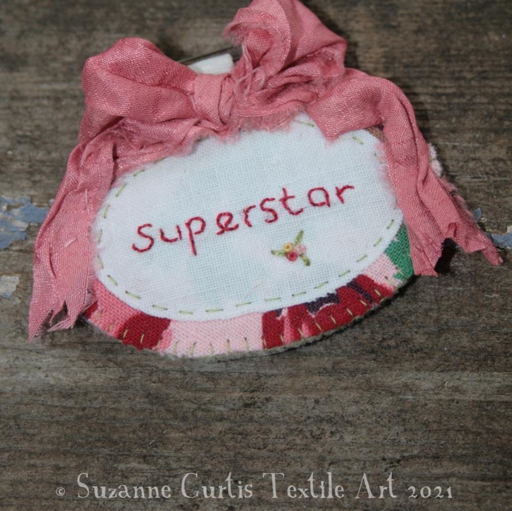 Superstar Textile Brooch 01
