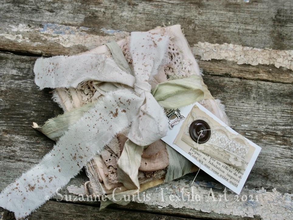 Hand Dyed Textile Bundle - Tea Dyed