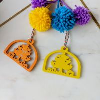 Luxury Pom Pom Christmas Gift Tag